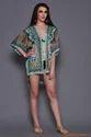 Digital Printed Silk Short Kaftan