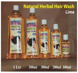 Natural Herbal Hair Wash Shampoo ( Lime )
