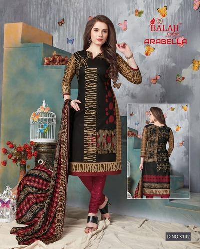 2ec6962f82 Balaji Cotton Printed Dress Material - ARABELLA VOL 13 BALAJI COTTON FABRIC  PURE COTTON WITH CHIFFON DUPATTA UNSTITCHED Manufacturer from Surat