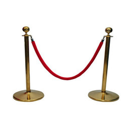 Bronze Color Velvet Rope Queue Manager