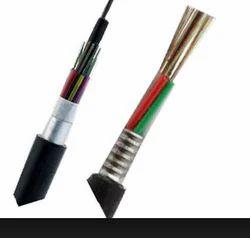 Armoured Fiber Optic Cable, 12 Core, SM, Unitube