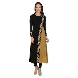 Ira-Soleil-Black-Polyester-Knitted-Stretchable-Georgette