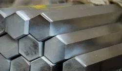 Bright Steel Hexagon Bar