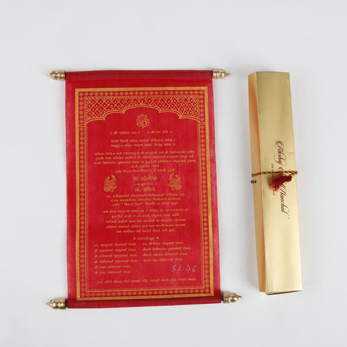 traditional scroll invitation cards personalized wedding scroll