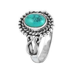 Paradise Bloom 925 Silver Turquoise Ring