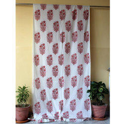 Mugal Buta Printed Indian Curtain