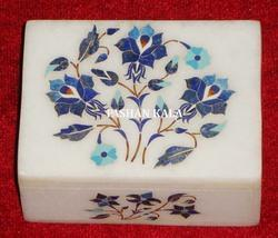 Marble Box With Stone Inlay Box