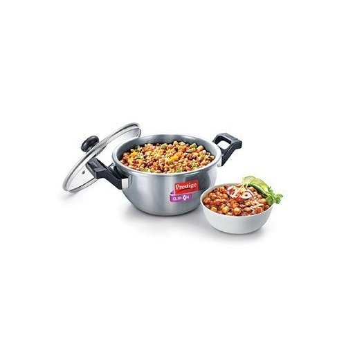 38811b57c Prestige 36327 1 U Clip On Stainless Steel Kadai Cookware With Glass Lid  Ladle Holder