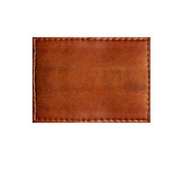 Dark Brown Leather Patch for Garments