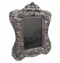 White Metal Meena Photo Frame