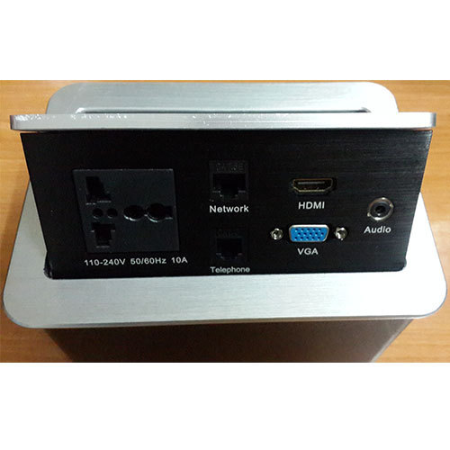 Pop Up Box Cuby For Conference Table Hydraulic Heavy Quality - Conference table power module with hdmi