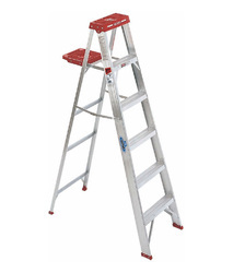 Small Wheel Aluminum Self Supporting Extension Ladders