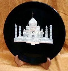 Marble Stone Taj Mahal Plate
