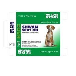 Shwan Spot On For Medium Dogs ( 11-20 lbs )