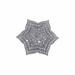 Pave Diamond Silver Cocktail Ring