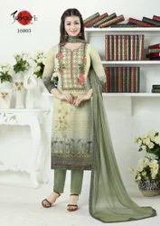 3/4 Sleeve Fancy Silky Salwar Suit