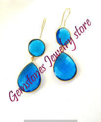 Blue Topaz Gemstone Earring