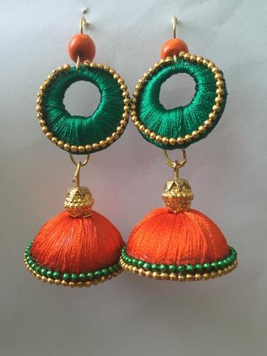 Silk Thread Jewellery Handmade Earring Whole Supplier From Ahmedabad