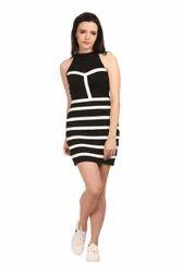 Western Monochrome Body Suit Dress