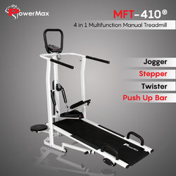Powermax(Usa) Mft-410 4 In 1 Multi-Function Manual Treadmill