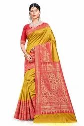 Designer Weaving Work  Saree