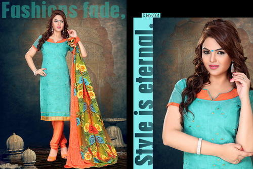 Awesome Embroidery Chanderi Cotton Suit