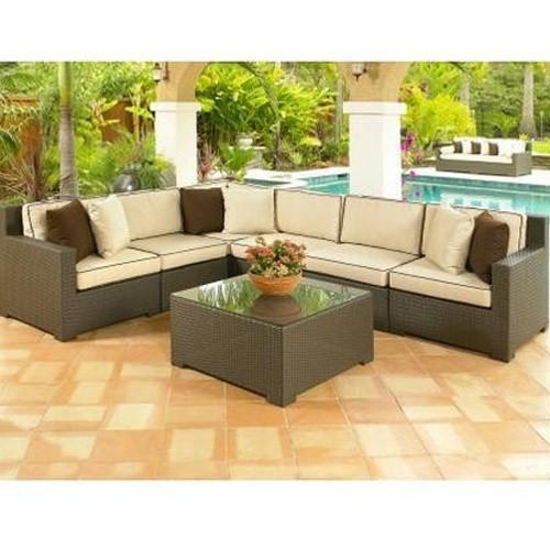 Cane Sofa Set Price In Delhi: Outdoor Wicker L Shape Corner