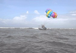 Parasailing at Tarkali