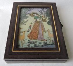Gem Stone Painting Wooden Boxes