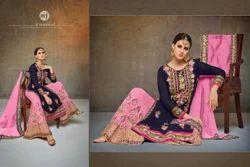 Round Neck Full Sleeve Sarara Salwar Suit