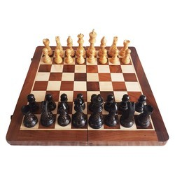 Wooden Chess Board With Coins