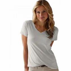 Ladies Plain Tees Shirt