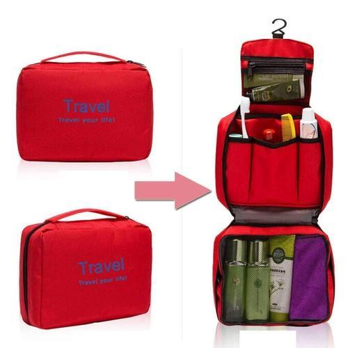 Cosmetic Makeup Pouch With Multi Pockets Hook Toiletry Bag,Travel Kit For  Women S Men S 5a35033a68