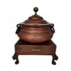 Ornamental Mini Hyatt Handi with Heritage Chowki