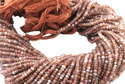 Chocolate Moonstone Faceted Beads