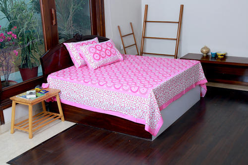 100% Pure Cotton High Quality Jaipur Screen Printed Bedsheet