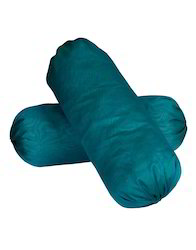 Solid Polydupion Yarn Dyed Green Bolster Cover