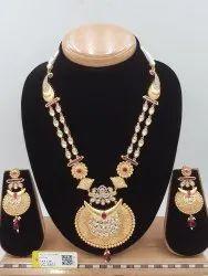 Antique Kundan Mala Pendent Set