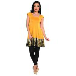 Ira-Soleil-Yellow-Polyester-Knitted-Stretchable-Block-Print