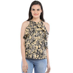 Cottinfab Women's Casual Abstract Tops