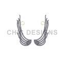 Designer Feather Ear Cuff Earrings