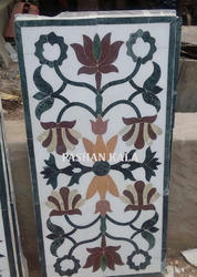 Marble Flooring With Inlay Design