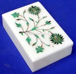Marble Inlay Rectangular Box