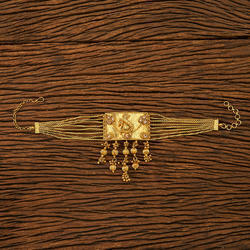 Antique Peacock Baju Band With Gold Plating 19852