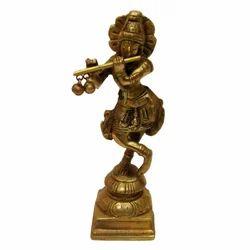 Brass Standing Krishana Statue