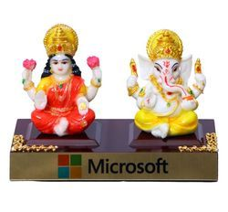 Ceramic Ganesh And Laxmi Statue