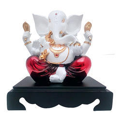 White Look Lord Ganesha Idol or Statue Corporate Gift Item