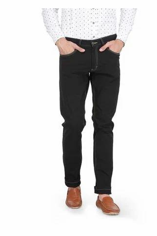 59a6ec79b07 Men Jeans - Men Regular Fit Four Way Stretchable Black Jeans ...
