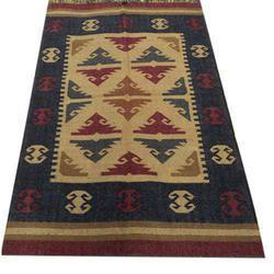 Wool Amp Jute Carpet Hand Woven Kilim Area Rug Jute Wool