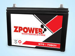 Z-Power SMF Automotive Battery, Voltage: 12 V